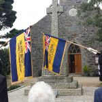 The British Legion Representatives at St Peters Church, Sark
